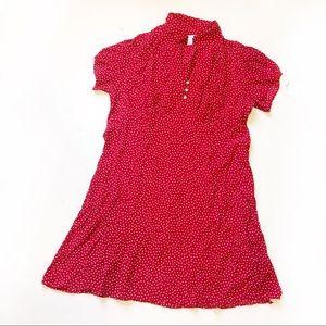 Cherry Red Retro Polka Dot Dress Sz 18w